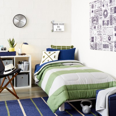 Modern Workshop Blue & White College Bedroom Collection - Room Essentials™