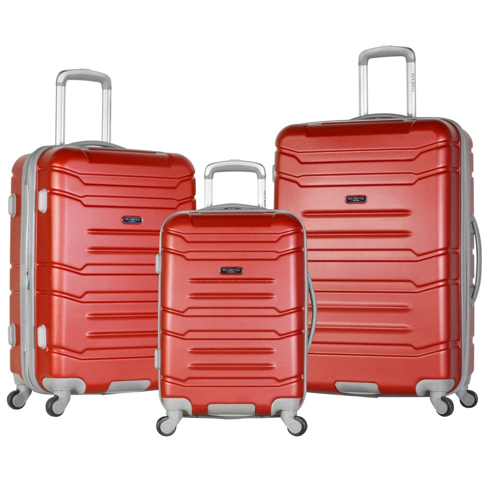 Image of Olympia USA Denmark 3pc Luggage Set - Wine, Red