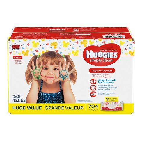 huggies wipes simply clean baby wipes 704ct target