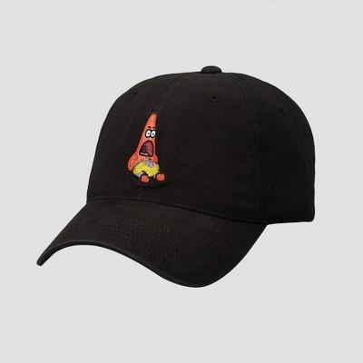Men's Nickelodeon Spongebob Patrick Baseball Cap - Black One Size