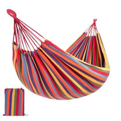 Best Choice Products 2-Person Brazilian-Style Cotton Double Hammock Bed w/ Portable Carrying Bag