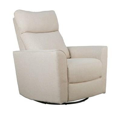 Karla Dubois Soho Swivel Accent Chair - Canvas