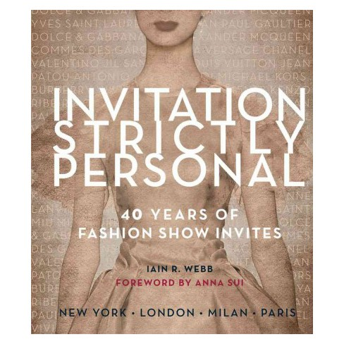 invitation strictly personal 40 years of fashion show invites