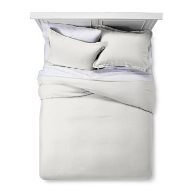 Silver Springs Lightweight Linen Duvet Cover Set (Full/Queen)- Fieldcrest®