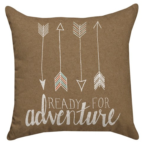 72c27ddba5dc0 Ready for Adventure Throw Pillow - Thumbprintz