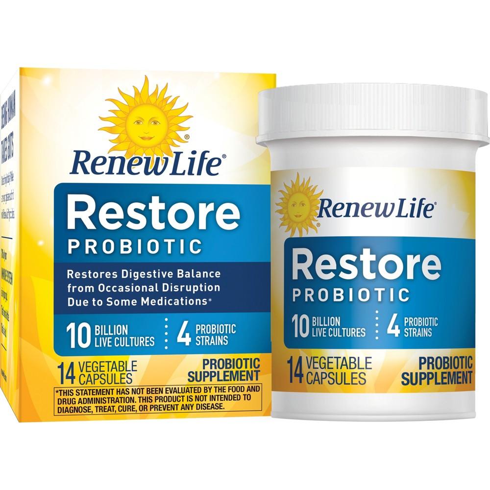 Renew Life Restore Probiotic Capsules - 14ct