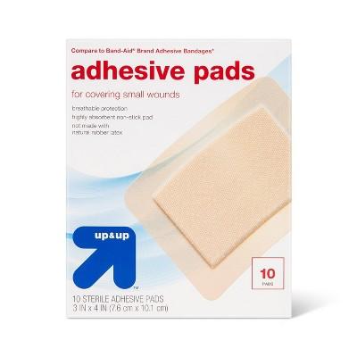 Large Adhesive Pad Flexible Fabric Bandages - 10ct - up & up™