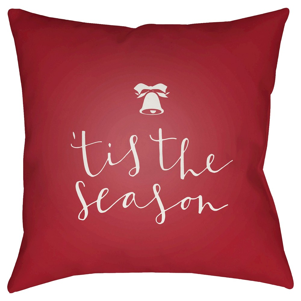 Red Tis The Season Throw Pillow 20