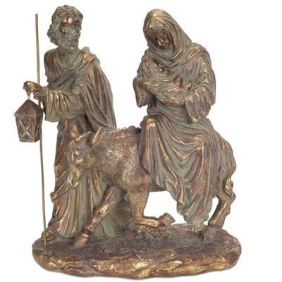 """Melrose 12"""" Bronze Holy Family Nativity Scene Christmas Tabletop Decor"""