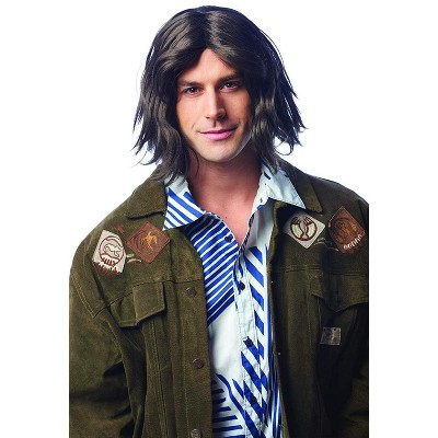 Costume Culture by Franco LLC Shaggy Hippie Adult Costume Wig | Brown