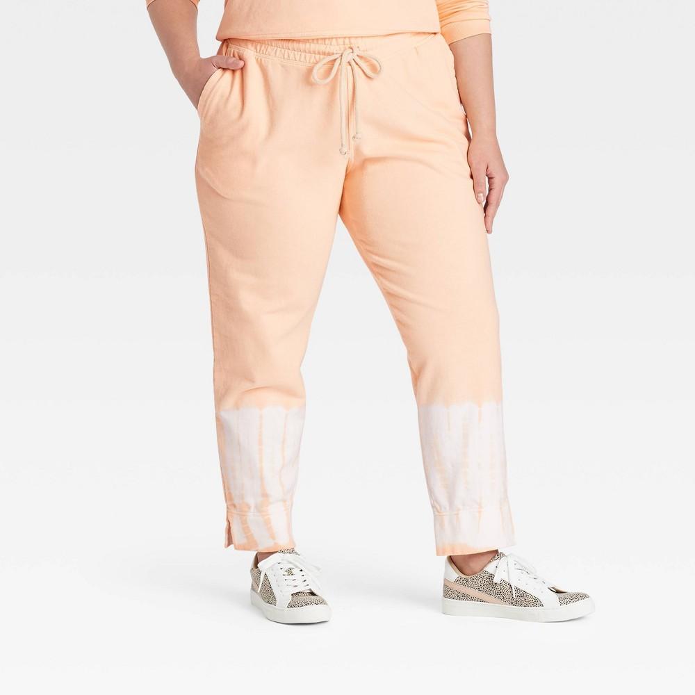 Women 39 S Tie Dye Jogger Pants Universal Thread 8482 Orange White L