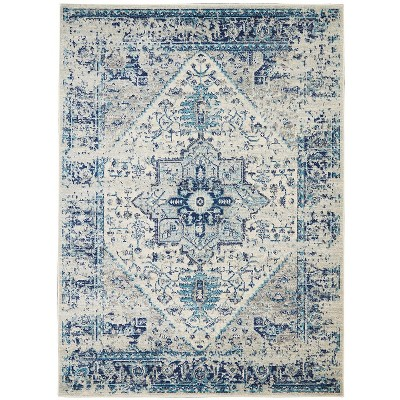 Nourison Tranquil Tra06 Ivory/Light Blue Indoor Area Rug by Nourison