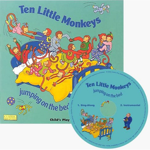 Ten Little Monkeys Jumping on the Bed - (Classic Books with Holes Us Soft Cover with CD) - image 1 of 1