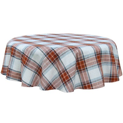 "70"" Cotton Yarn Dyed Plaid Tablecloth - Threshold™"