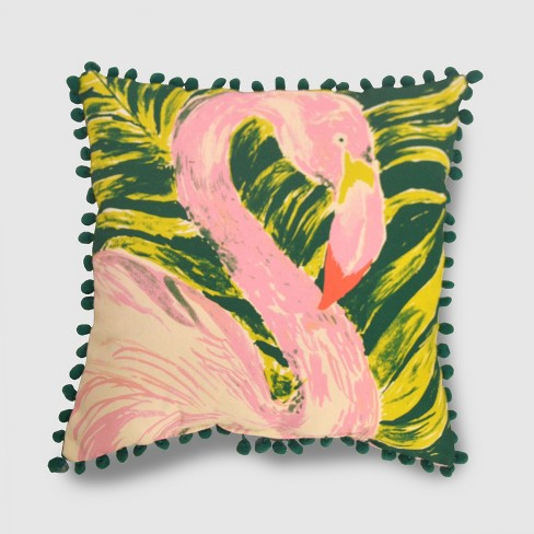 Square Painted Flamingo Outdoor Pillow - Opalhouse™ - image 1 of 1