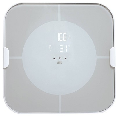 Vitalize Bluetooth Body Composition Scale with Led Display White - Optima Home Scales