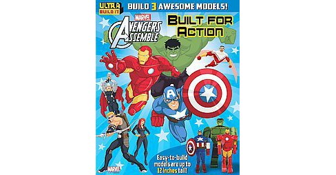 Marvel Avengers Assemble Built for Action (Paperback) - image 1 of 1