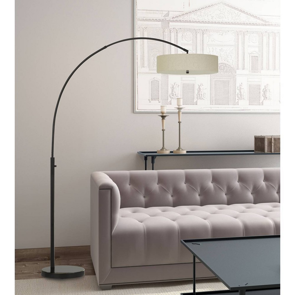 Chardon Led Adjustable Metal Arc Floor Lamp Dark Bronze (Includes Energy Efficient Light Bulb) - Cal Lighting