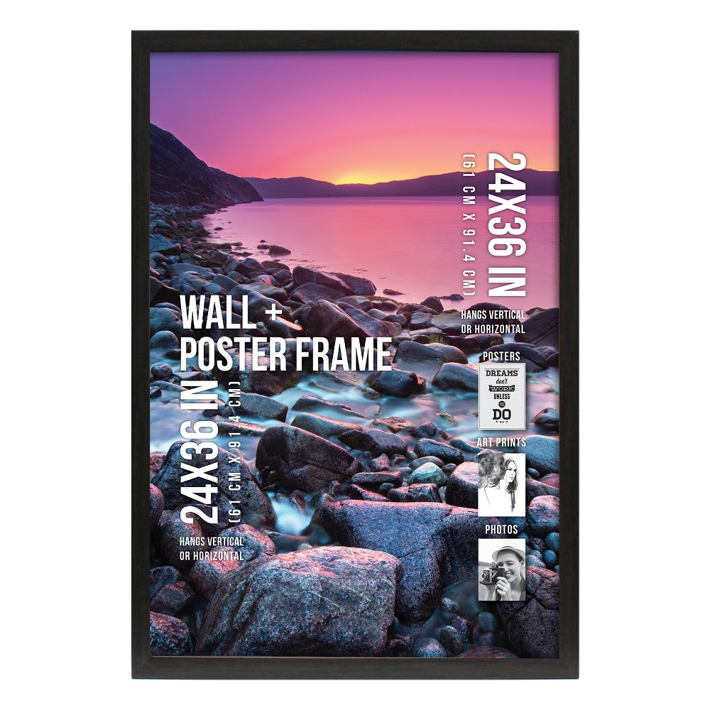 "Image of ""Poster Frame 1 Profile - Gray - (24""""x36"""")"""