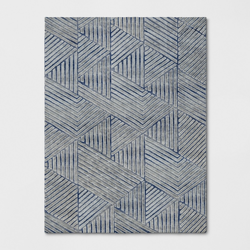 9'X12' Tufted Geometric Area Rug Blue - Project 62 was $629.99 now $314.99 (50.0% off)