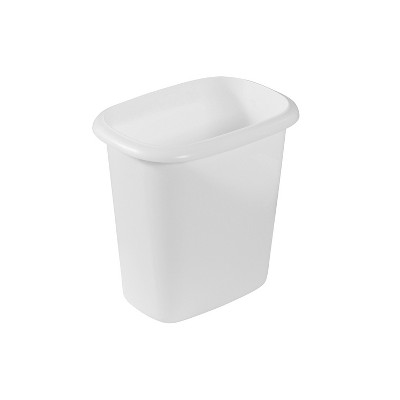 Rubbermaid 6 Quart Traditional Bedroom, Bathroom, and Office Wastebasket Trash Can, White