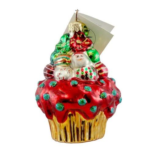 Christopher Radko Christmas Cake Sbk Ornament Cupcake Exclusive - image 1 of 1