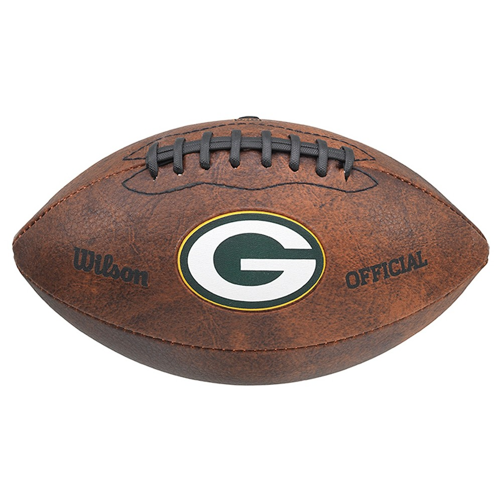 Green Bay Packers Wilson 9 Inch Color Throwback Football