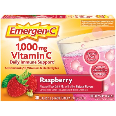 Emergen-C Vitamin C Dietary Supplement Drink Mix - Raspberry - 30ct