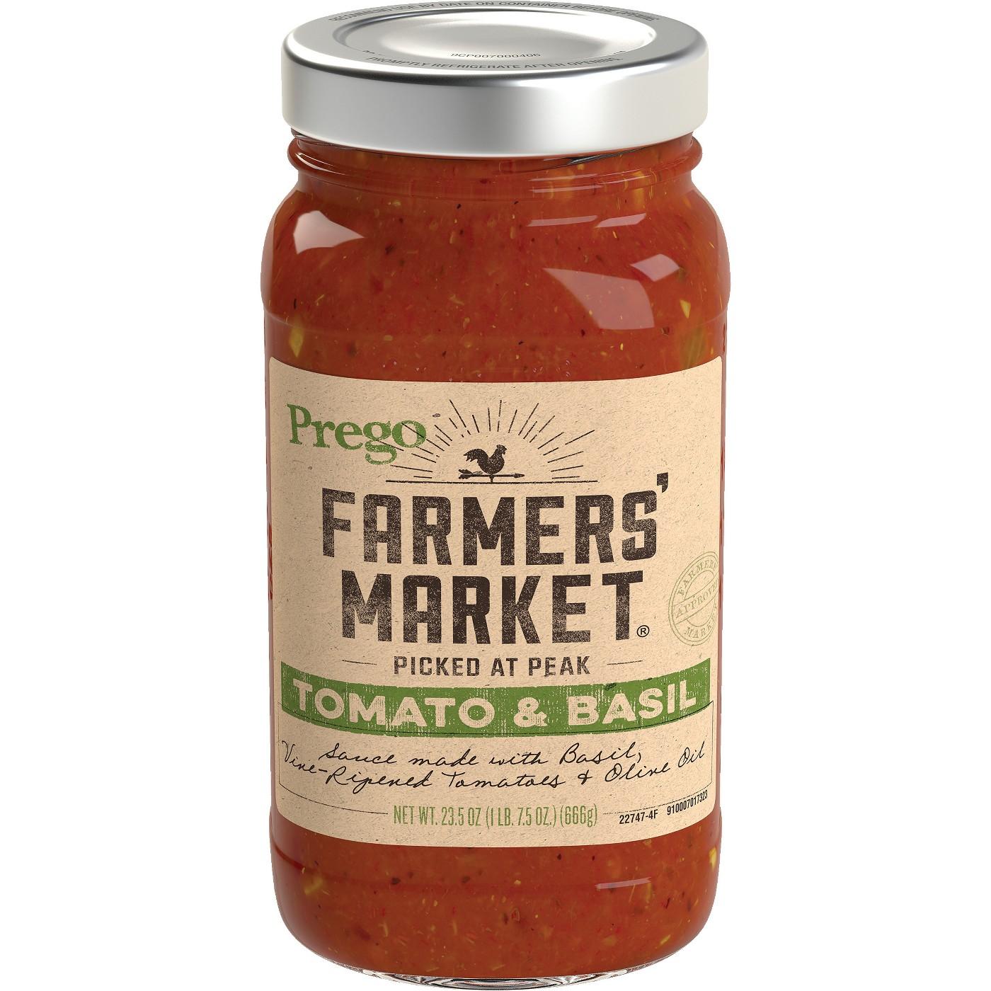 Prego® Farmers' Market Tomato & Basil Marinara Italian Sauce 23.5 oz - image 1 of 5