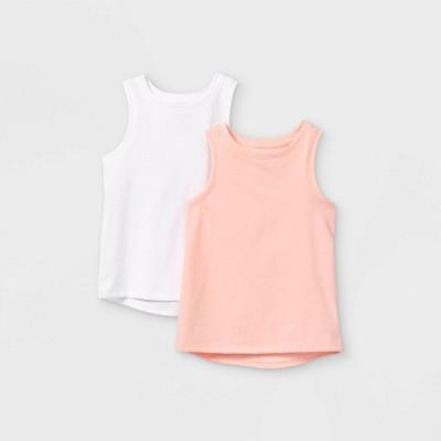 Toddler Girls' 2pk Tank Top - Cat & Jack™ White/Pink