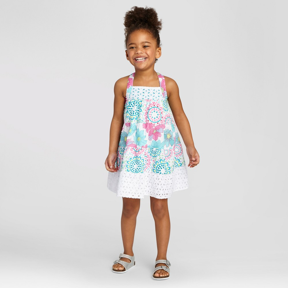Penny M Toddler Girls' Mixed Pattern A Line Dress - 4T, Multi-Colored