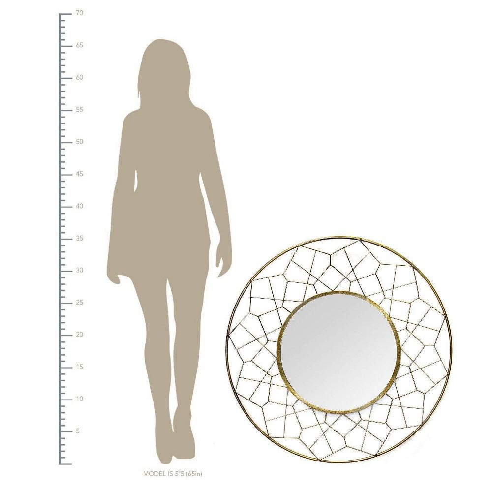 Image of Aimee Mirror Gold - Stratton Home Decor