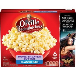 Orville Redenbacher's Movie Theater Butter Popcorn - 19.74oz / 6ct