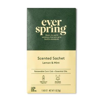 Air Freshener Sachet - Lemon & Mint - 1oz - Everspring™