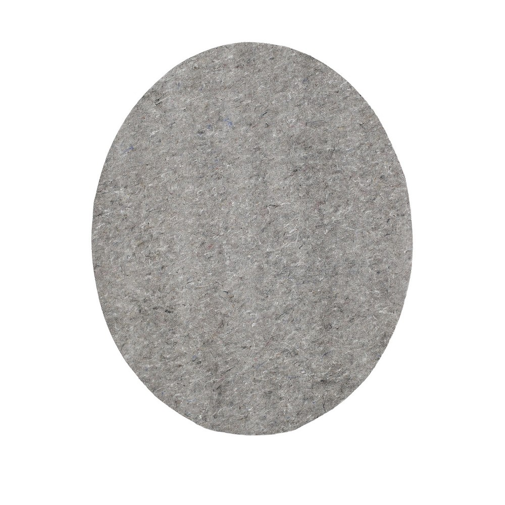 8'9 Solid Oval Rug Pad Gray - Mohawk