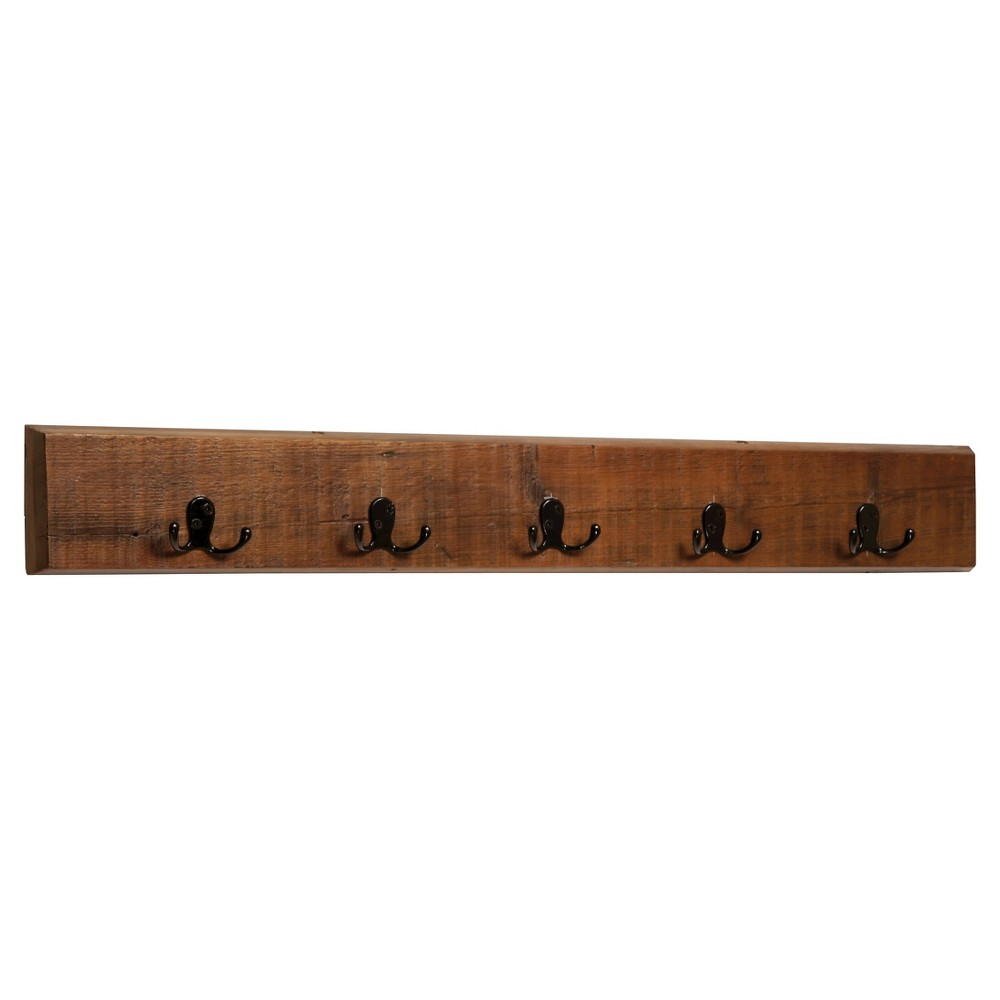 "Image of ""36"""" Wall-Mounted Coat Hook Hardwood Natural - Alaterre Furniture"""