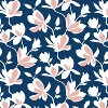 Unlined Silhouette Floral Light Filtering Curtain Panel Navy/Blush - Cloth & Co. - image 5 of 5