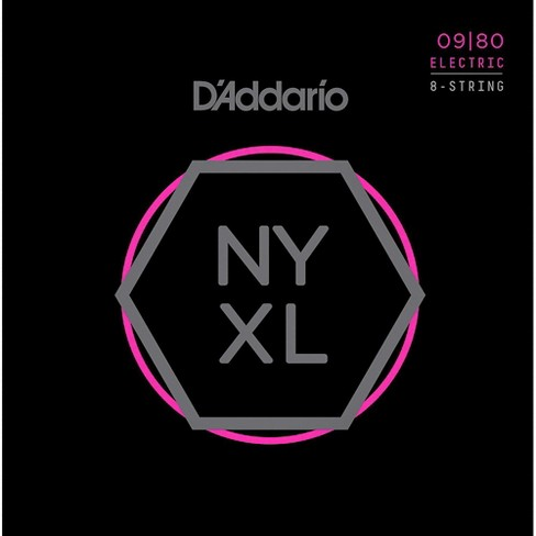 D'Addario NYXL0980 8-String Super Light Nickel Wound Electric Guitar Strings (09-80) - image 1 of 2