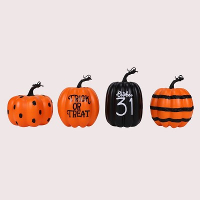 4ct Classic Halloween Foam Pumpkins - Bullseye's Playground™