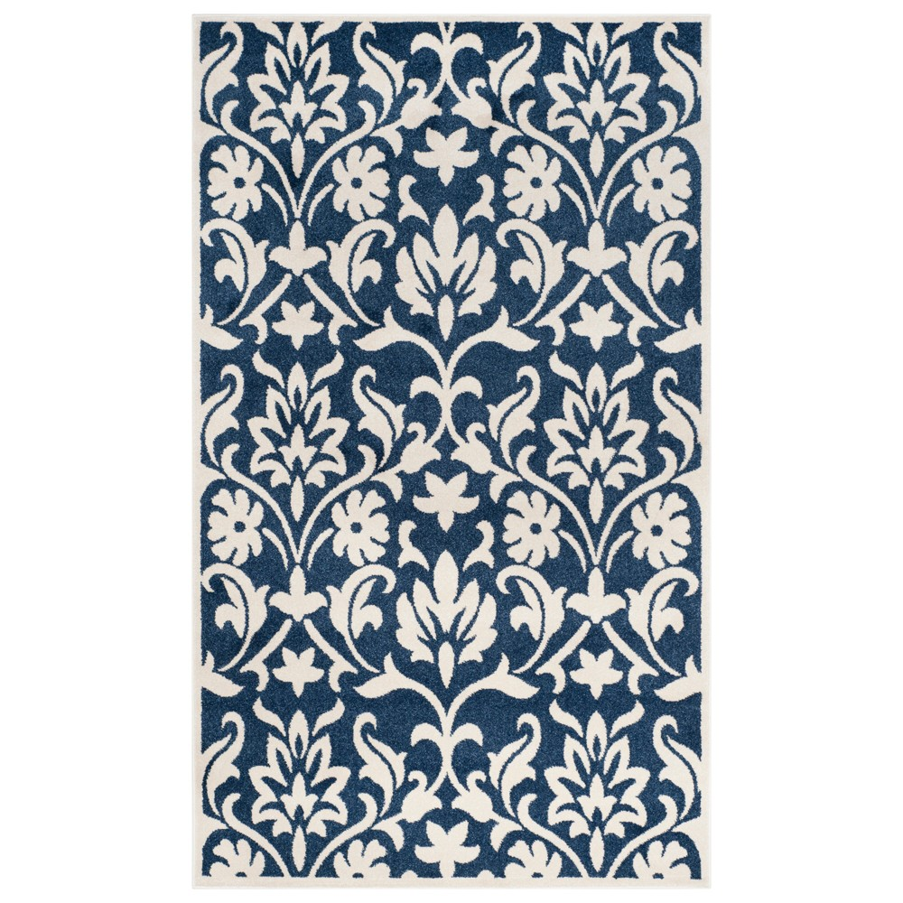 Chartres 6' x 9' Outdoor Rug Navy/Ivory - Safavieh, White Blue