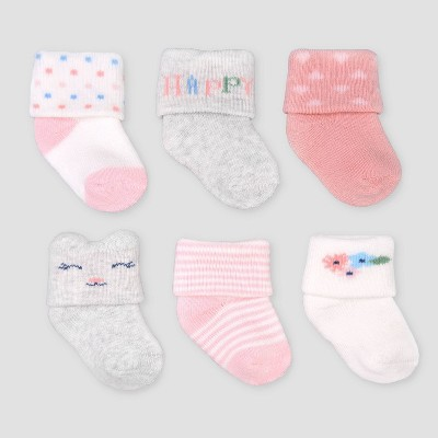 Baby Girls' 6pk Cuff Terry Socks - Just One You® made by carter's Pink