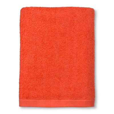 Solid Bath Towel Bright Coral - Room Essentials™
