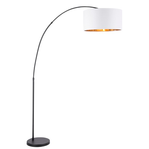 Salon Contemporary Floor Lamp White Shade With Black Base Only Lumisource Target