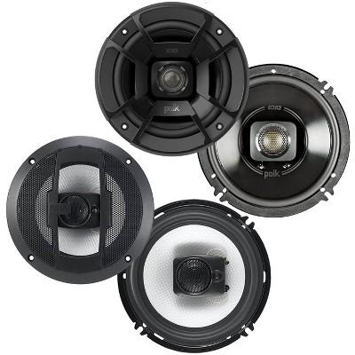 Polk Audio 6.5-Inch 300W 2 Way Speakers + Boss 6.5-Inch 300W 3 Way Speakers