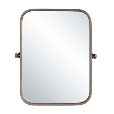 24  x 20.5  Decorative Pivoting Wall Mirror Copper - 3R Studios