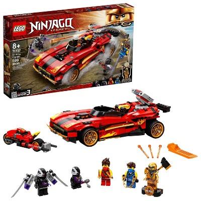 LEGO NINJAGO Legacy X-1 Ninja Charger; Set Includes Motorcycle and Collectible Minifigures 71737