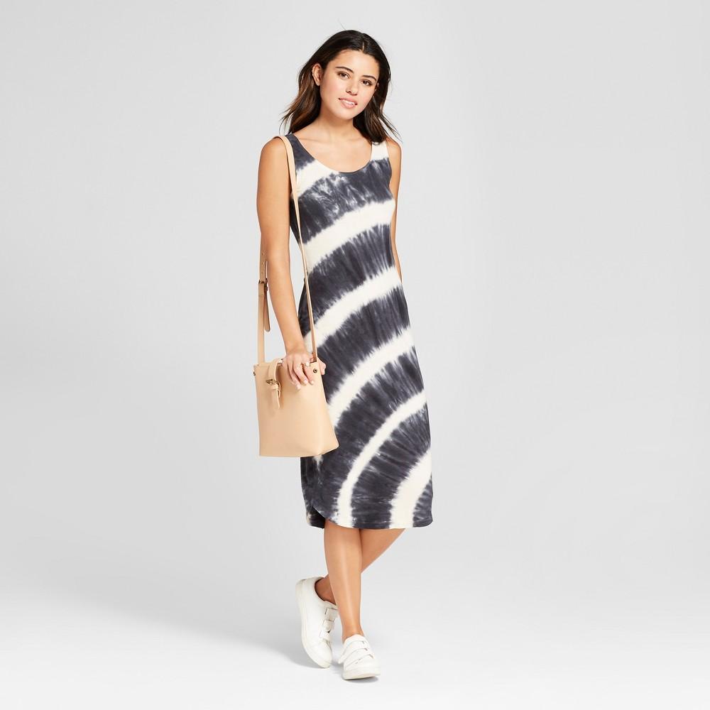 Women's Tie Dye Midi Dress - nitrogen Black/White S, Size: Small was $49.99 now $17.49 (65.0% off)