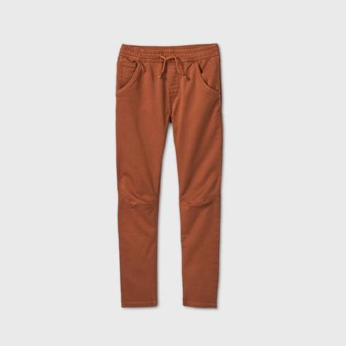 Boys' Super Stretch Jogger Fit Jeans - Cat & Jack™ Brown - image 1 of 2