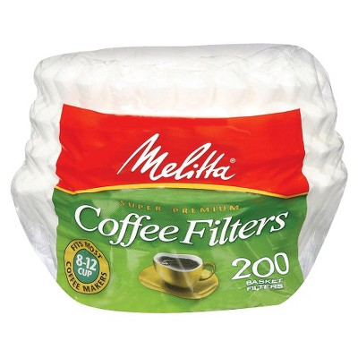 Melitta Super Premium White Coffee Filters 200-ct.