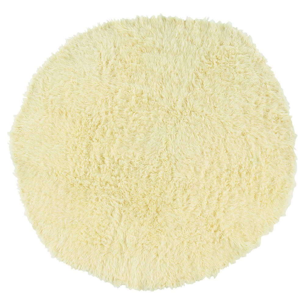 Image of 100% New Zealand Wool Flokati Rug - Natural (8' Round)